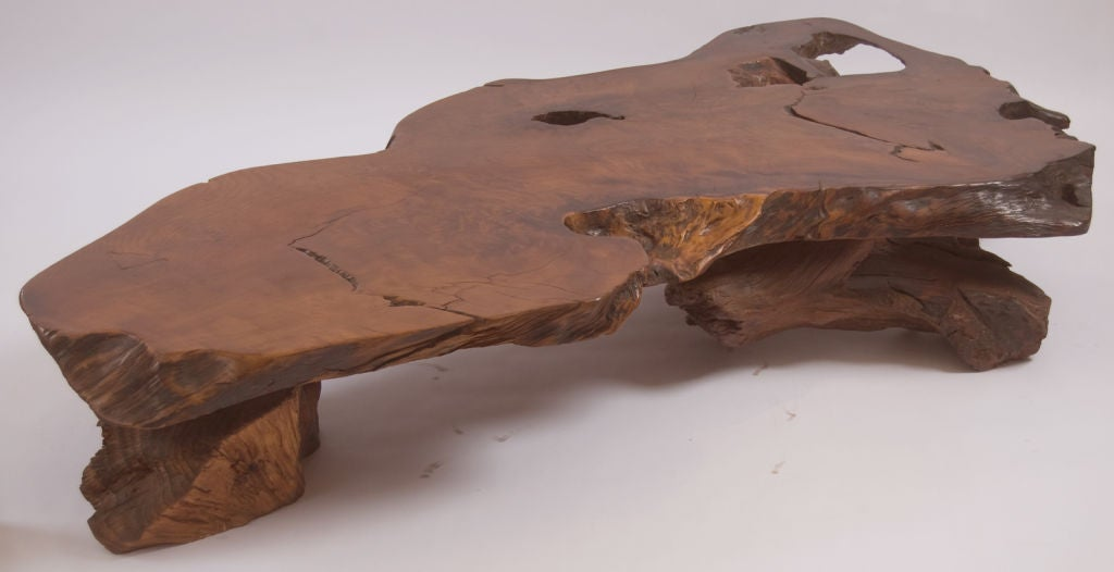 massive burl wood coffee table at 1stdibs. Black Bedroom Furniture Sets. Home Design Ideas