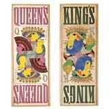 Pair Bjorn Wiinblad King's And Queen's Prints