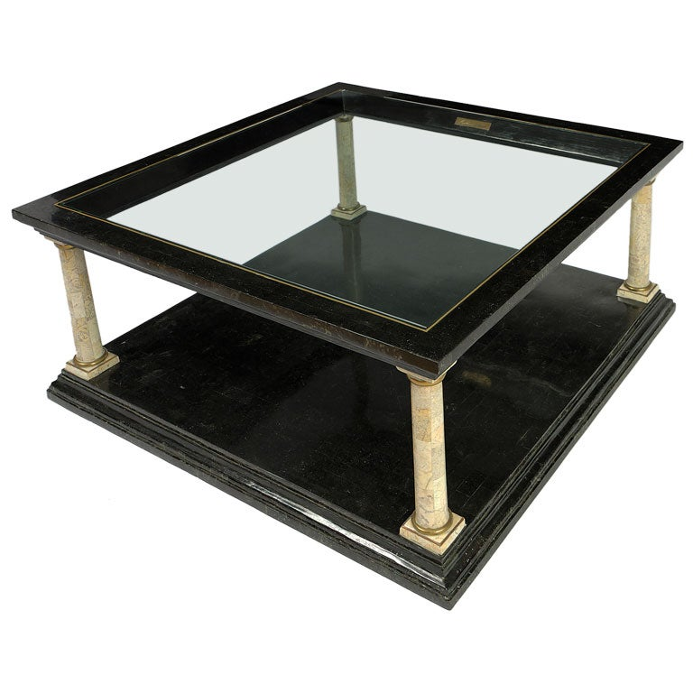Maitland Smith Tessellated Stone Coffee Table At 1stdibs