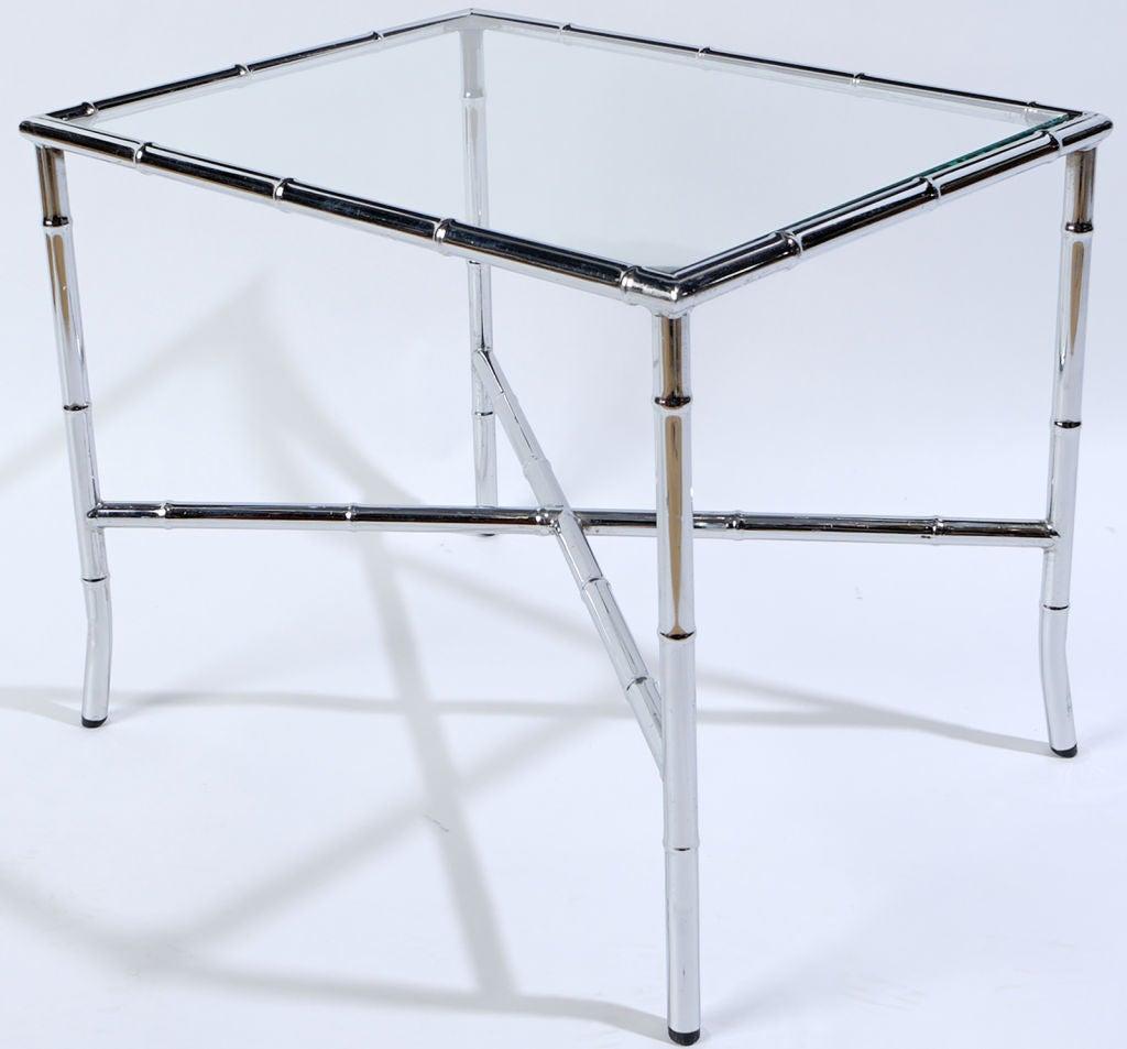 Chrome Bamboo U0026 Glass End Table 2