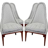 Set Of Four High-Back Lipstick Dining Chairs