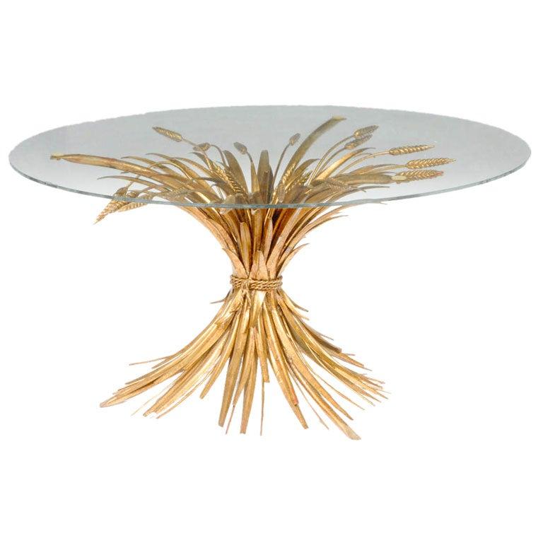 Gilt Iron Wheat Sheaf Table
