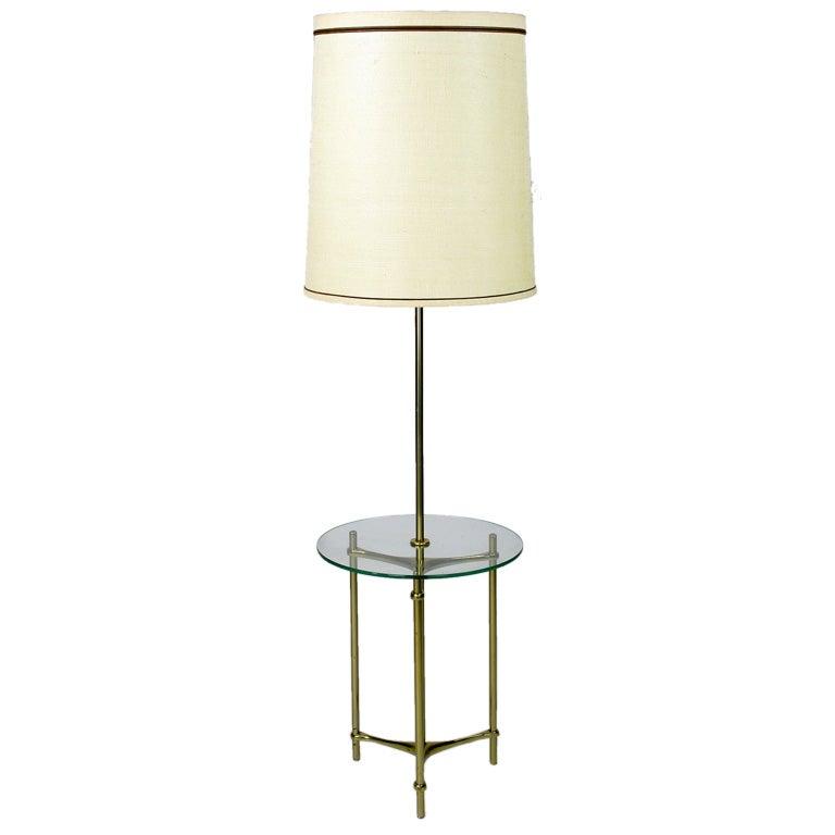 Modern Floor Lamp Brass: Modern Brass And Glass Floor Lamp By Laurel Lamp Company