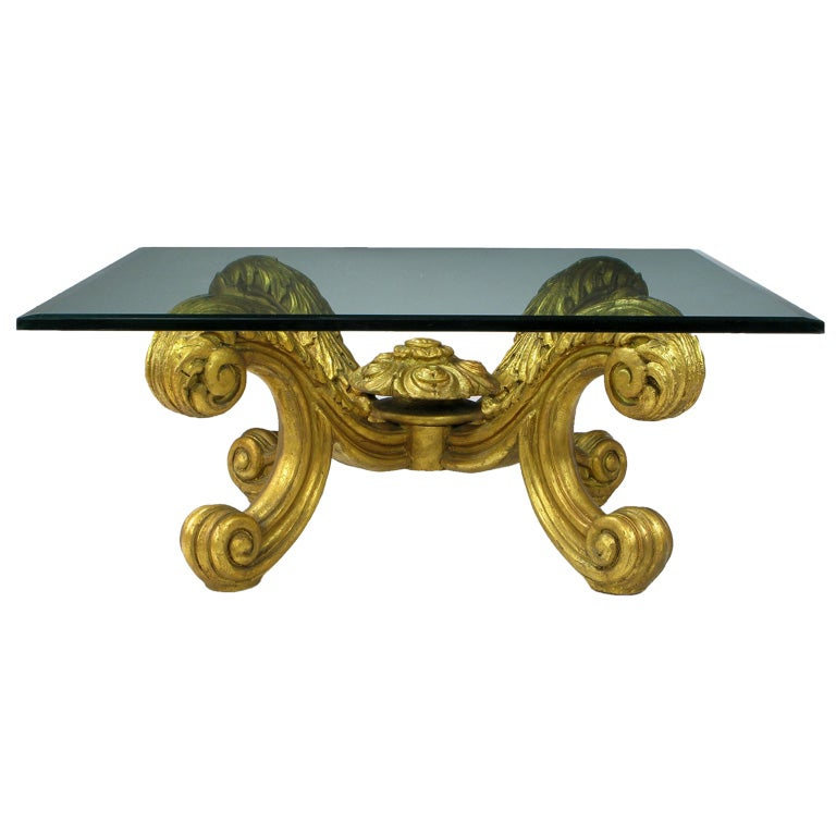 Hand Carved And Gilt Spanish Rococo Coffee Table At 1stdibs