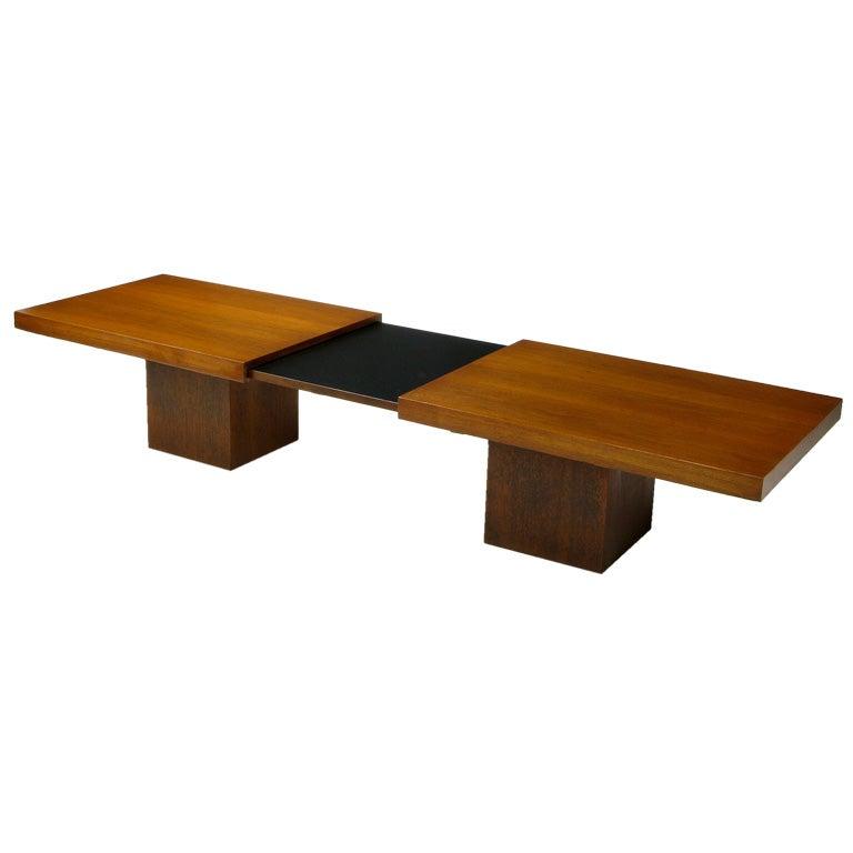 Walnut Slide Top Coffee Table By John Keal At 1stdibs