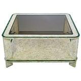 Maitland Smith Tessellated Fossil Stone & Malachite Coffee Table