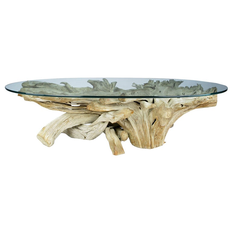 classic california modern driftwood coffee table at 1stdibs. Black Bedroom Furniture Sets. Home Design Ideas