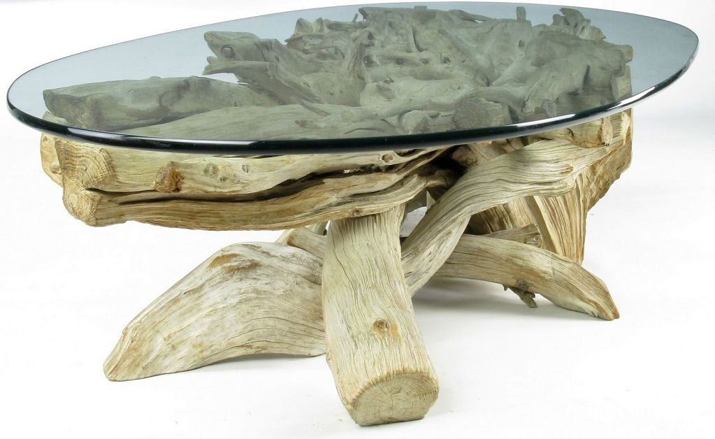 Classic California Modern Driftwood Coffee Table At 1stdibs