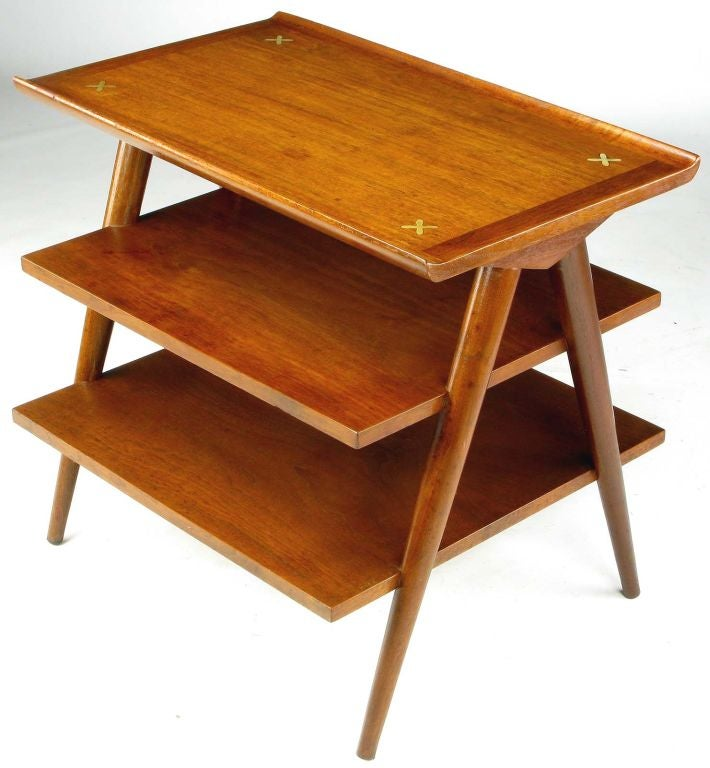 Three Tier Side Table By American Of Martinsville At 1stdibs