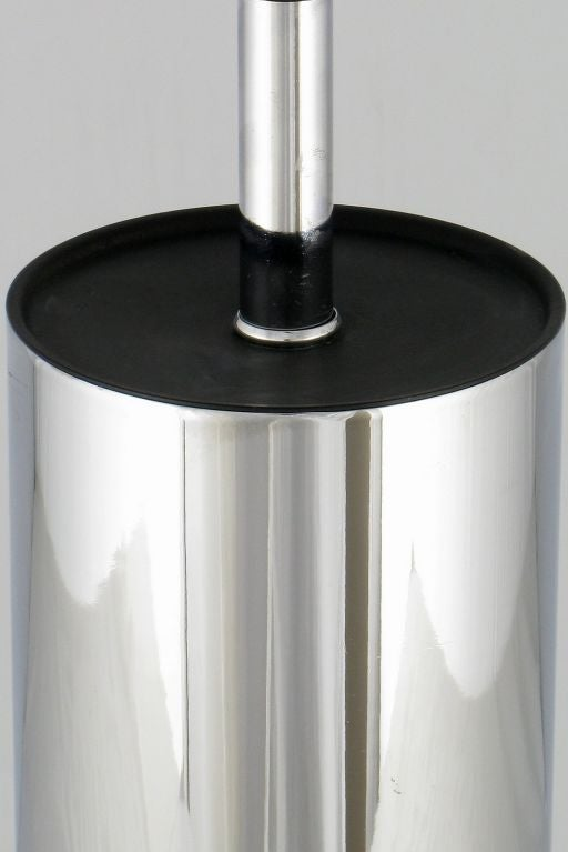 American Laurel Cylindrical Chrome Table Lamp For Sale