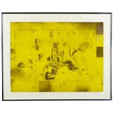 Signed Figural Abstract Aquatint Colored Etching
