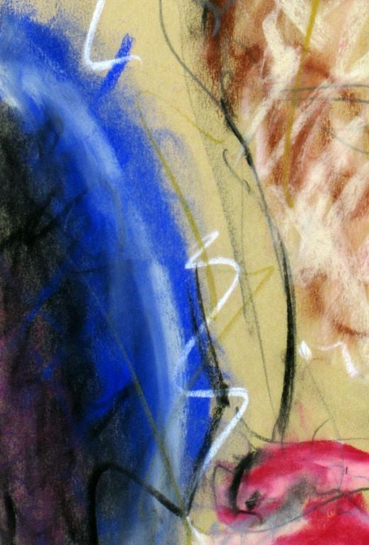 Signed Abstract Nude Gouache On Paper For Sale 3