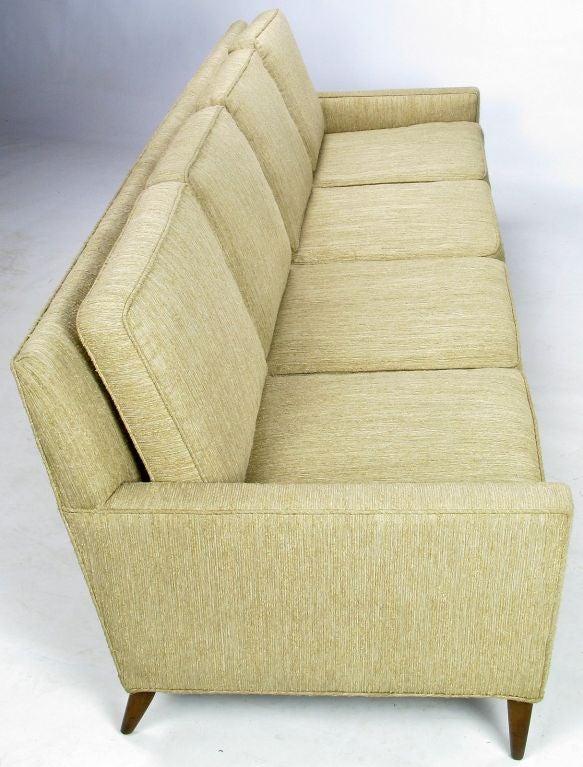 Paul McCobb Four Seat Sofa In Oatmeal Color Stripe