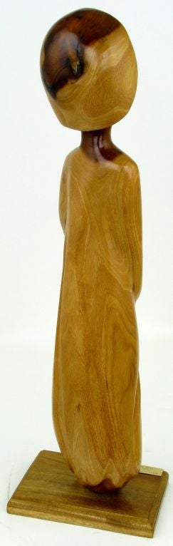 Seri Iron Wood Sculpture Of Female Abstract By Miguel Estrella image 4