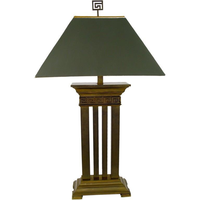 Greek Revival Bronze Columned Table Lamp For Sale At 1stdibs