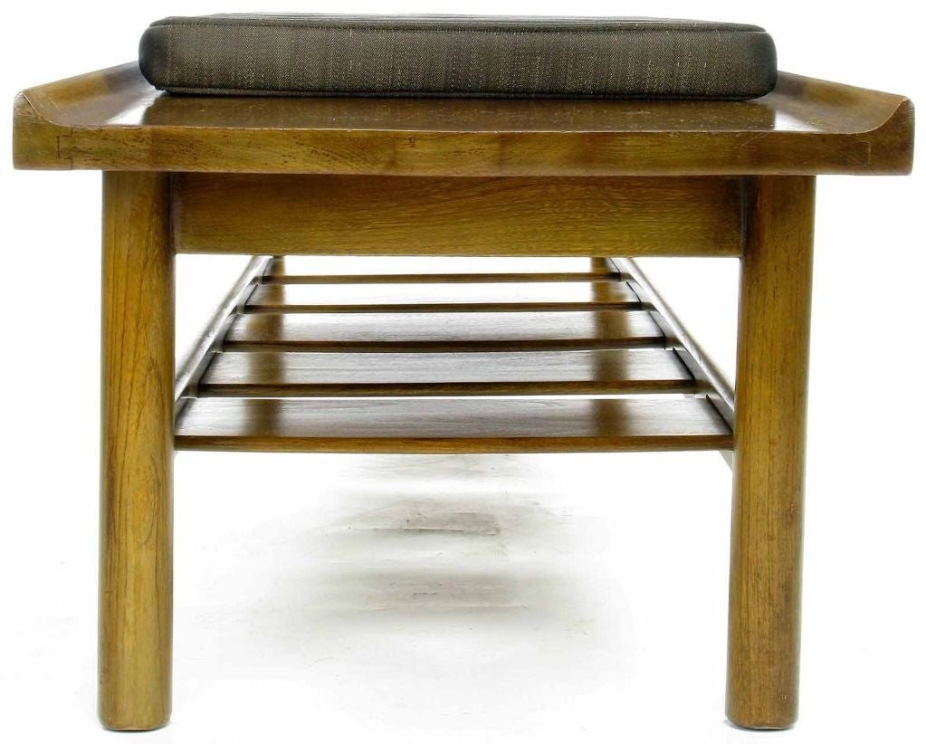 Lawrence Peabody Long Walnut Bench For Richardson Nemschoff At 1stdibs