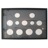 Framed Collection of Plaster Intaglios