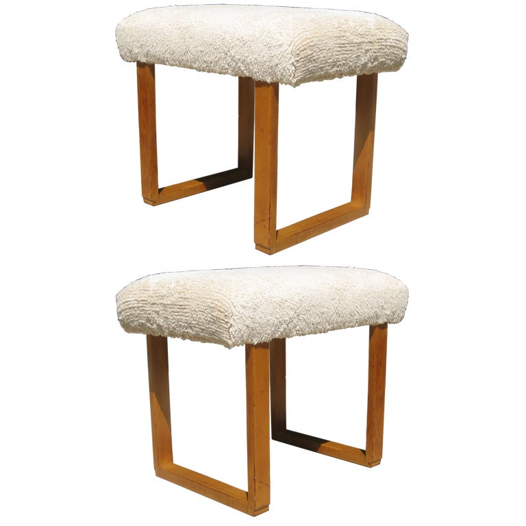 Pair of benches by eliel saarinen for johnson furniture at for Eliel saarinen furniture