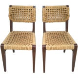Set of Four Rope Side Chairs by Audoux-Minet by VIBO