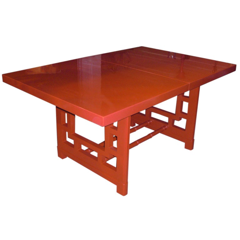 Mid Century American Asian Revival Extension Dining Table At 1stdibs