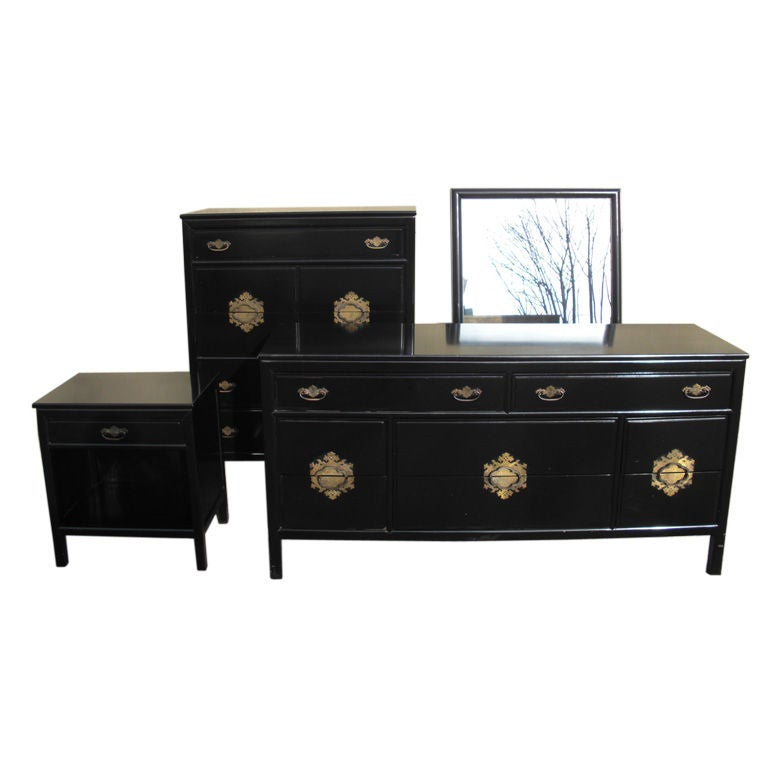 1950 39 s 4 piece asian style bedroom set by willett