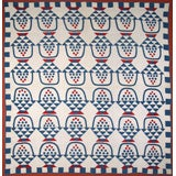 Antique Quilt:  Baskets of Cherries and Blueberries