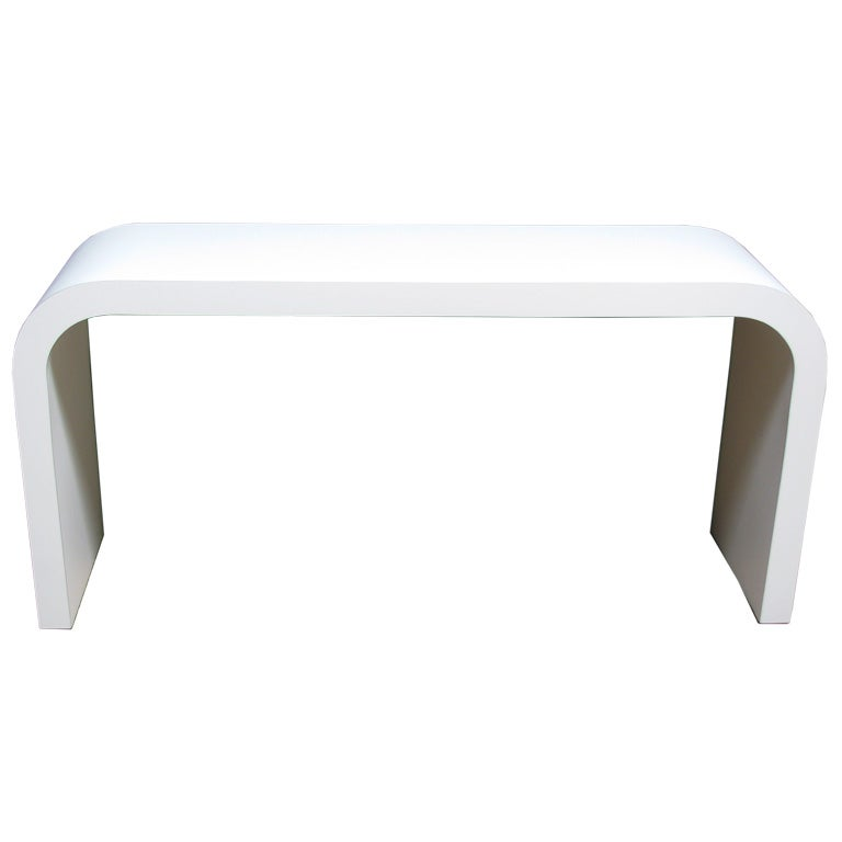 Vintage White Console Table at 1stdibs