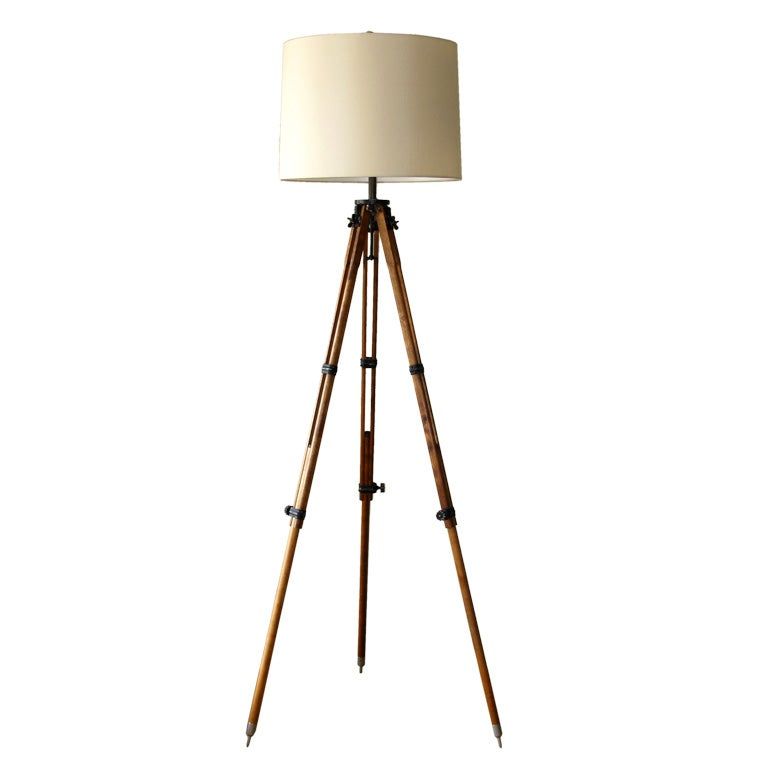 Antique Tripod Floor Lamp At 1stdibs