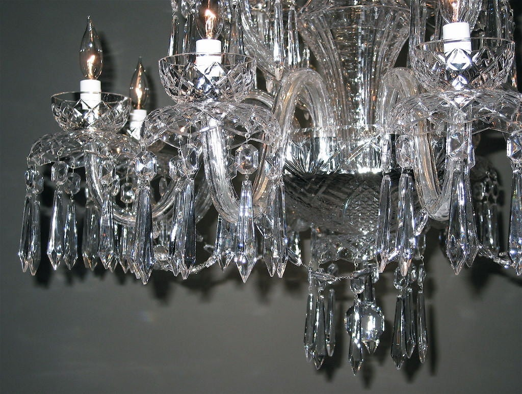 Waterford Crystal Chandelier At 1stdibs