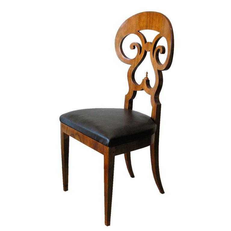 Biedermeier Double Scroll Side Chair At 1stdibs