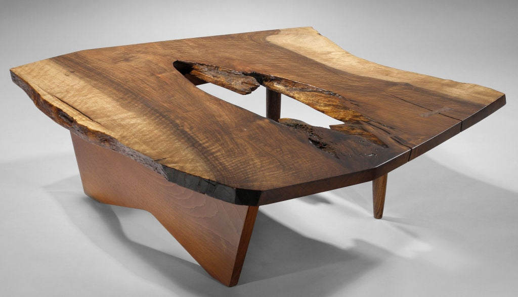 Dramatic Slab Coffee Table By George Nakashima 1960 At 1stdibs