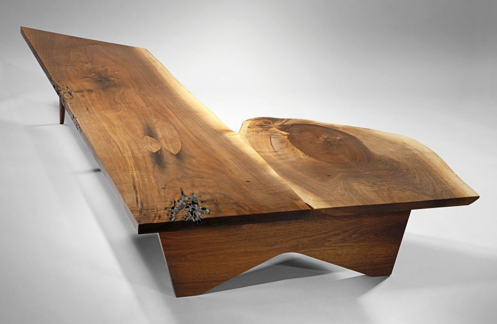 Unique coffee table bench by george nakashima 1957 for for Unusual tables for sale