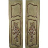 Pair of Carved French Painted Doors
