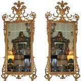 Pair of Louie XVI Style  Giltwood Mirrors
