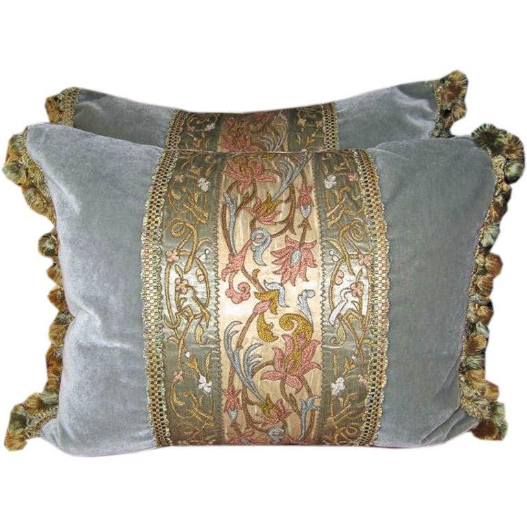 Pair of 19th C. Textile Pillows
