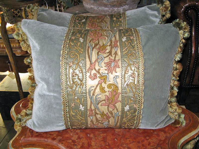 Pair of 19th C. Textile Pillows image 2