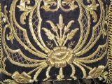 Antique Turkish Gold Embroidered Pillow image 2