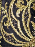 Antique Turkish Gold Embroidered Pillow image 5