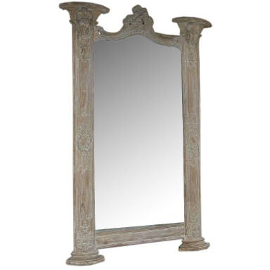 Grand Scale Carved Italian Mirror