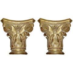 Pair of Stunning Giltwood Capitals (Corbels)