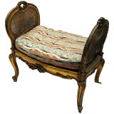 French Louis XV-style Giltwood Seat C. 1900