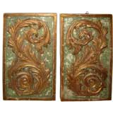 Pair of Painted and Parcel Gilt Panels