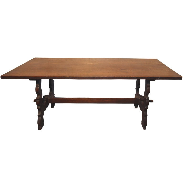 Trestle Table and four chairs by Marshall Laird at 1stdibs