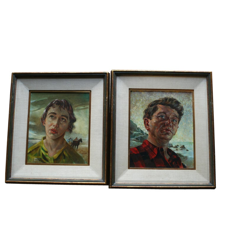 Pair of Surreal Portraits