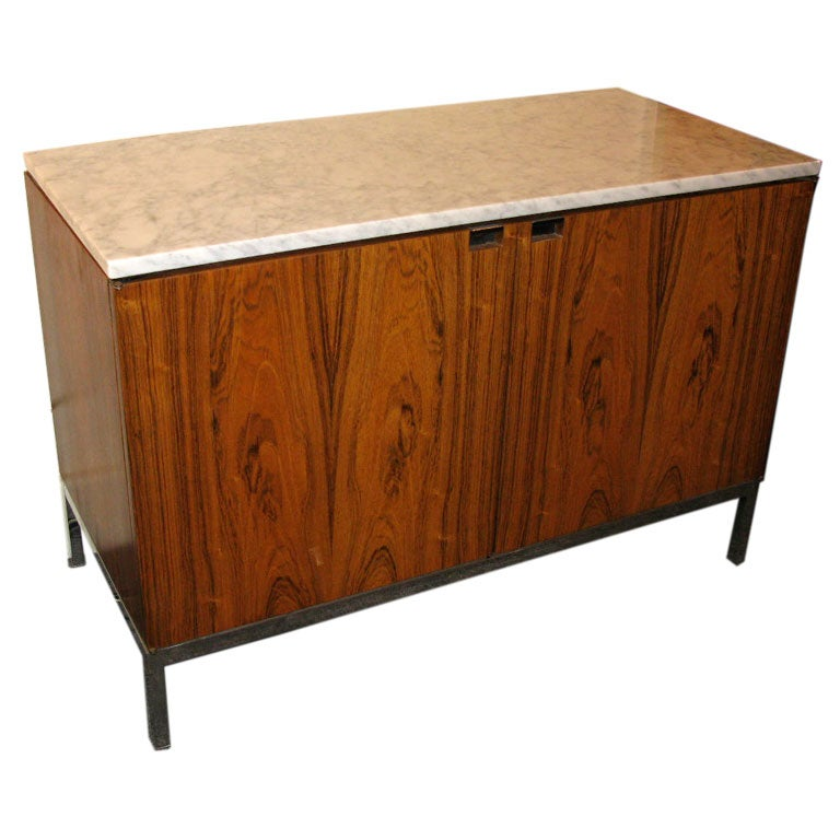 two door florence knoll credenza with marble top at 1stdibs. Black Bedroom Furniture Sets. Home Design Ideas