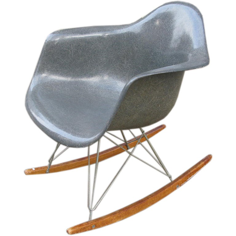Charles Eames Molded Plastic Armed Rocking Chair At 1stdibs