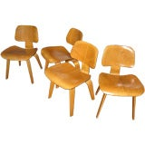 Set of four DCW by Charles Eames for Herman Miller