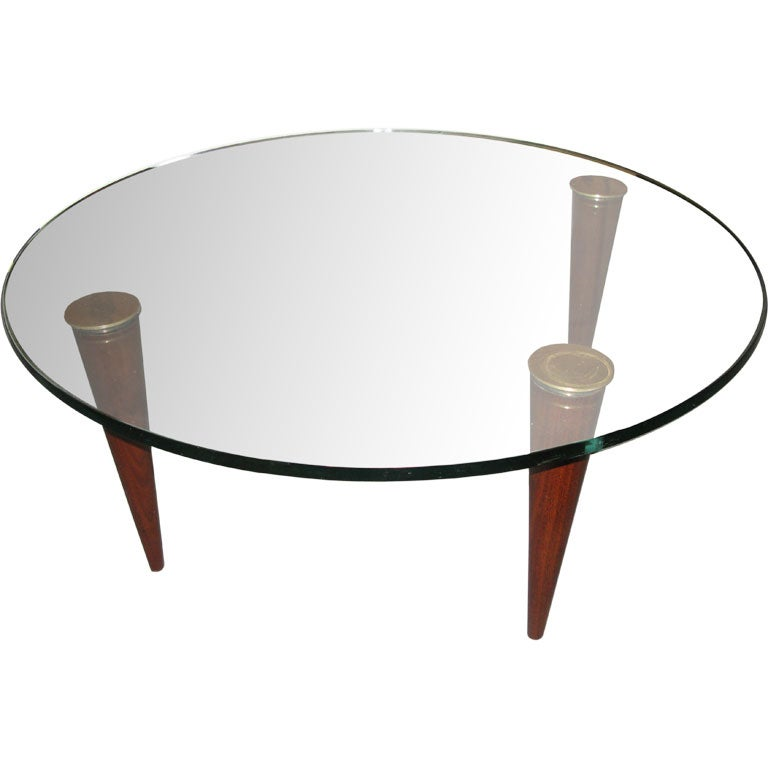Gilbert Rohde For Herman Miller Glass Coffee Table At 1stdibs