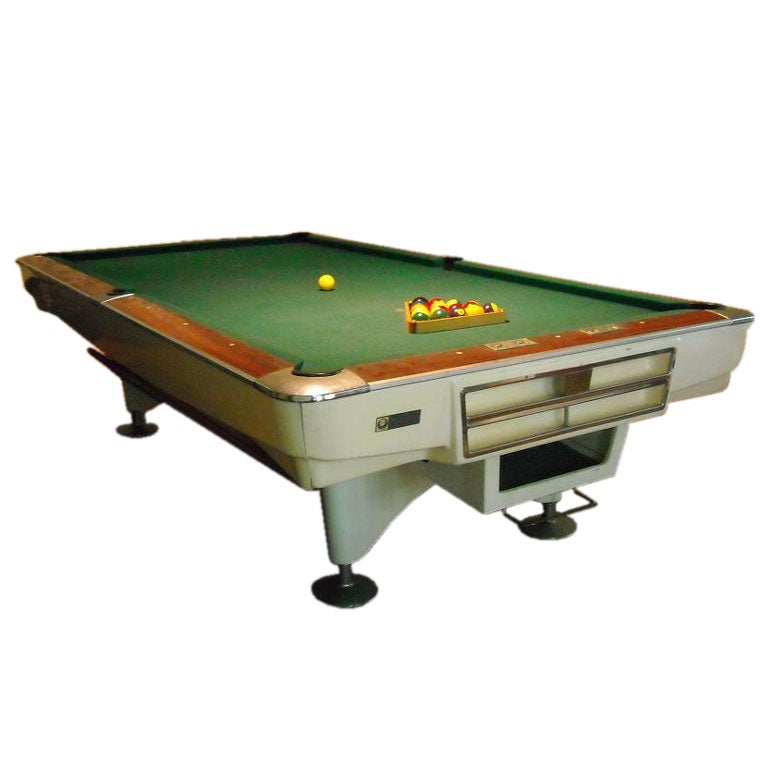 1950 39 s tournament size pool table designed by palmer at for 1 4 size snooker table