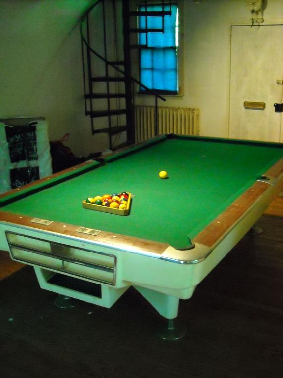 1950 S Tournament Size Pool Table Designed By Palmer At